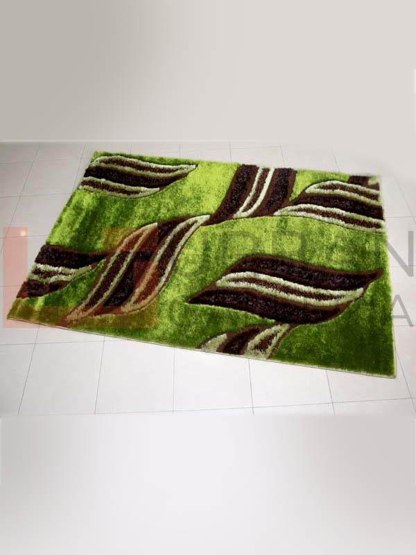 Green Forest Shaggy Rug