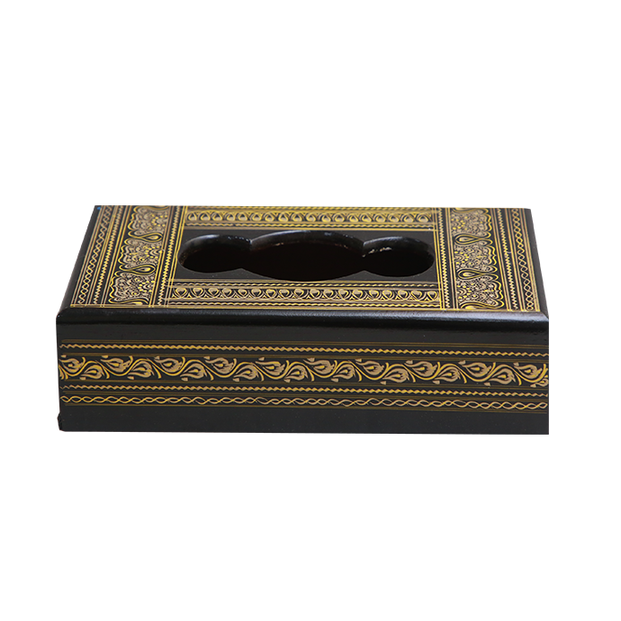 Hebrew Tissue Box - Goldern Charm