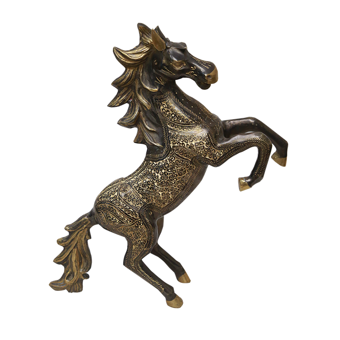 Standing Horse Decorative Metal Figurine