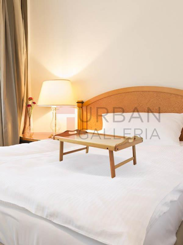 Light Brown Folding Bed Table