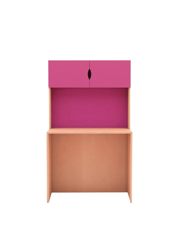 Melinda Study Table in Pink