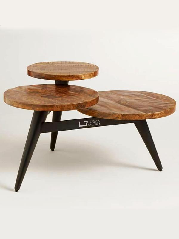 Trivia Round Coffee Table