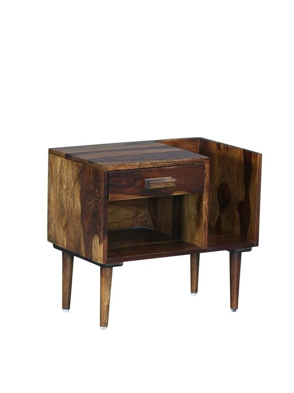 Trough Bed Side Table - Brown
