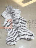 White Tiger Shaggy Rug