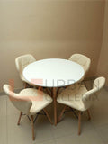Yokel Dining Set-White