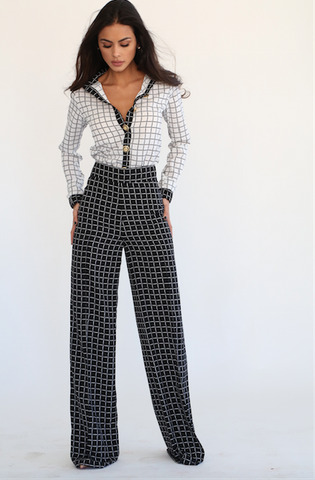 Chess Wide Leg Trousers