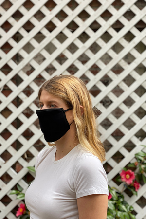 A Pack of Reusable Fabric Masks - Black / White