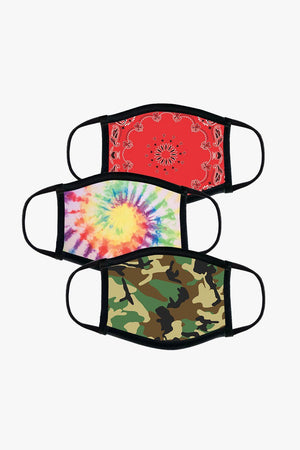 A Pack of Reusable Fabric Face Masks - Assorted Colors Jack + Mulligan