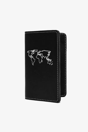 Leather Passport Wallet - Black Accessories Jack + Mulligan