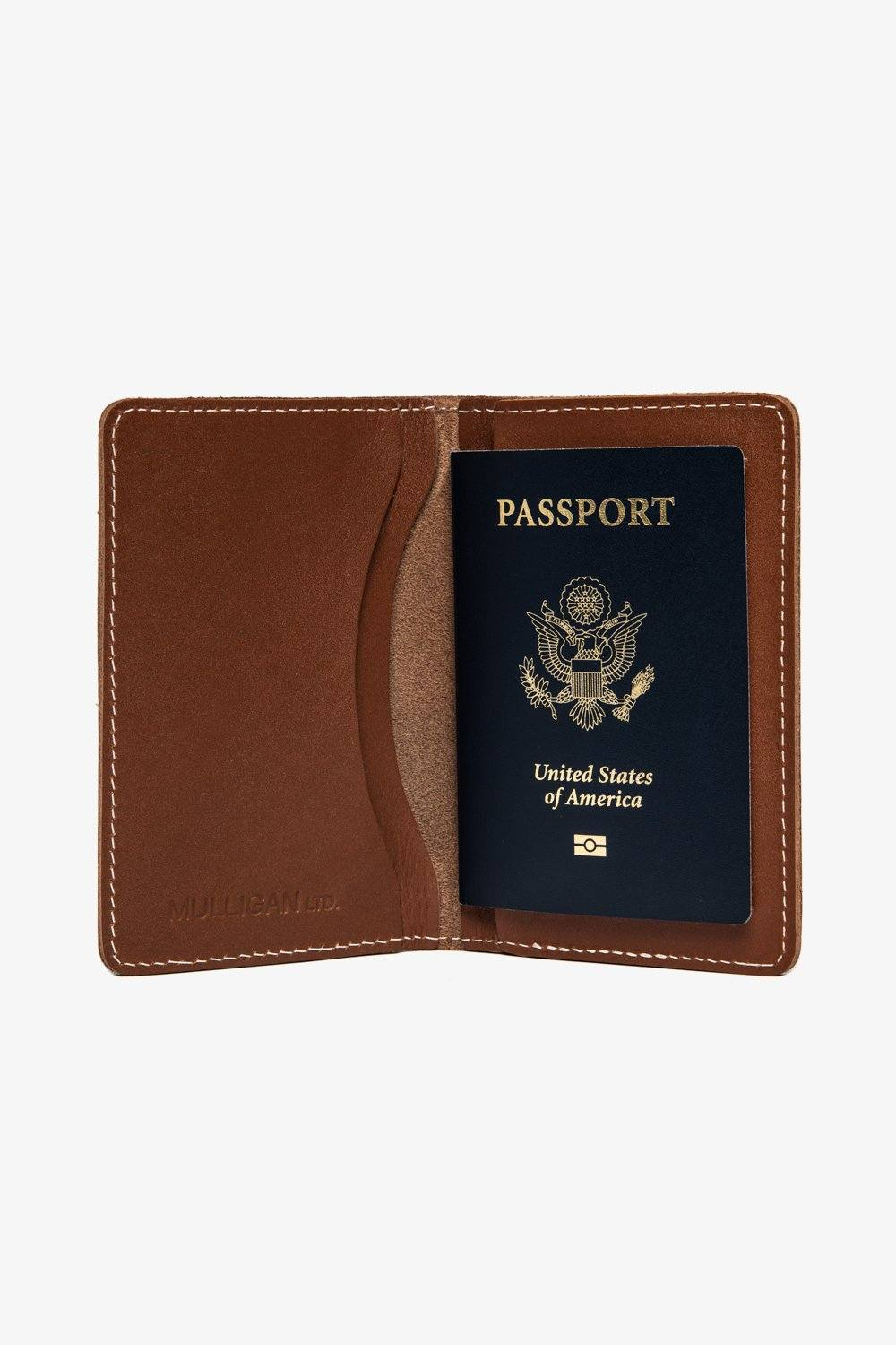 Leather Passport Wallet - Brown Accessories Jack + Mulligan