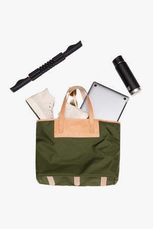 Pablo Tote - Forest Green / Large Jack + Mulligan
