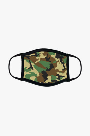 Reusable Fabric Face Mask - Camo Jack + Mulligan