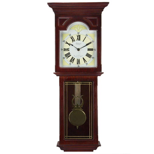BedfordClockCollection Clocks Bedford Clock Collection Redwood 23 Inch Readwood Oak Finish Wall Clock