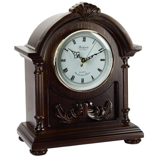 BedfordClockCollection Clocks Bedford Clock Collection Wood Mantel Clock with Chimes