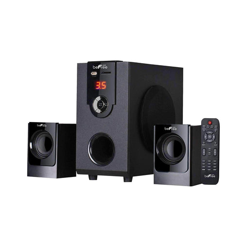 BefreeSound Home Stereo Systems beFree Sound 2.1 Channel Bluetooth Surround Sound Speaker System