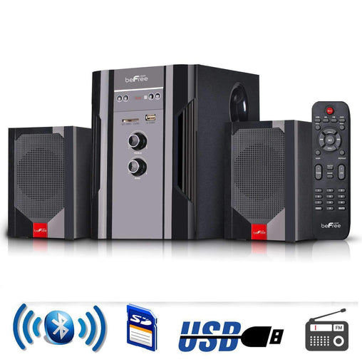 BefreeSound Home Stereo Systems beFree Sound 2.1 Channel Surround Sound Bluetooth Speaker System