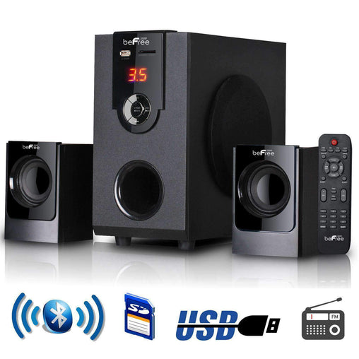 BefreeSound Home Stereo Systems beFree Sound 2.1 Channel Surround Sound Bluetooth Speaker System - Reconditioned