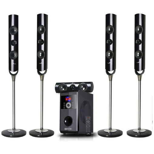 BefreeSound Home Stereo Systems beFree Sound 5.1 Bluetooth Channel Surround Sound Speaker System
