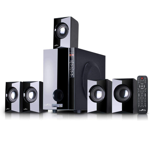 BefreeSound Home Stereo Systems beFree Sound 5.1 Channel Surround Sound Bluetooth Speaker System in Black - Reconditioned