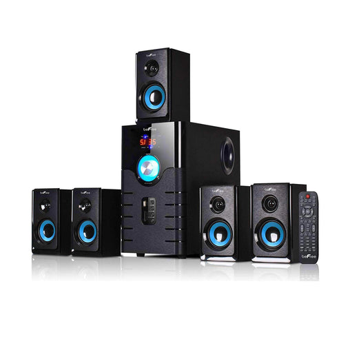 BefreeSound Home Theaters beFree Sound 5.1 Channel Surround Sound Bluetooth Speaker System- Blue - Reconditioned