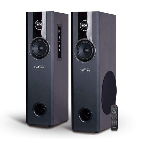 BefreeSound Speakers beFree Sound 2.1 Channel Bluetooth Powered Black Tower Speakers - Reconditioned