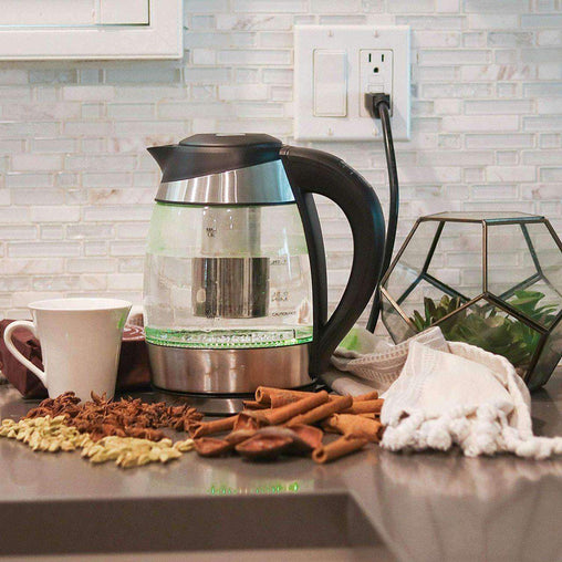 BoiliT Kitchen Electric Glass Kettle w/Temperature Control with Colored LED Lights