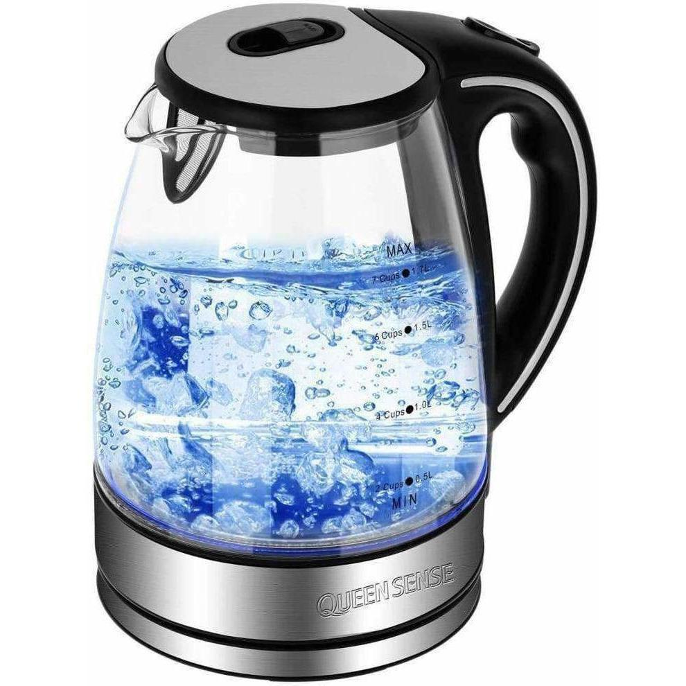 BoiliT Kitchen Fast Heating Glass Electric Kettle with Blue Led