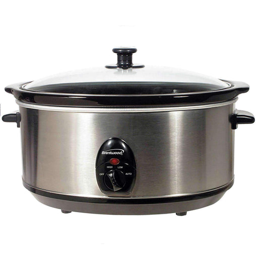 Brentwood Cookware Brentwood 6.5 Quart Slow Cooker Stainless Steel