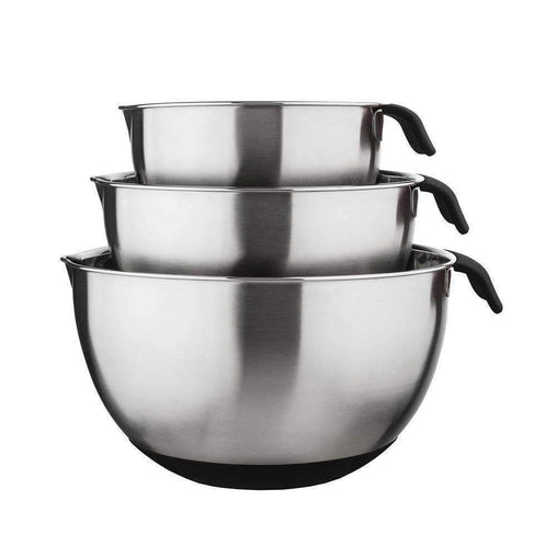 Cooper and Co Kitchen Mixing Bowl Set With Lids and Grey Handles