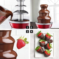Cooper and Co Kitchen Stainless Steel Chocolate Fondue Fountain 3 Tiers