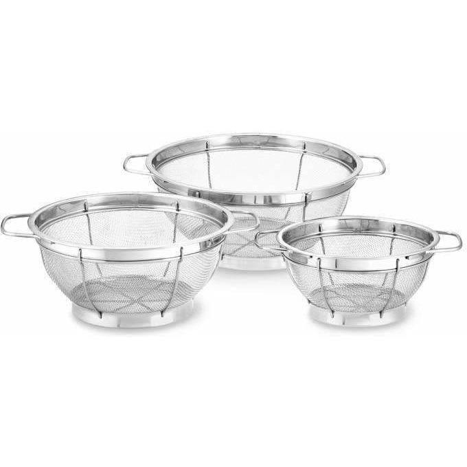 Cooper and Co Kitchen Stainless-Steel Mesh Colanders 10""
