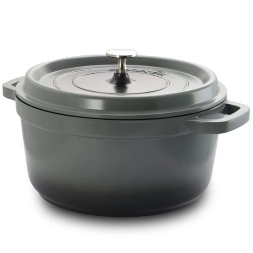 Crock-pot Cookware Crock Pot Edmound 5 Quart Nonstick Cast Aluminum Casserole with Lid in Gradient Grey