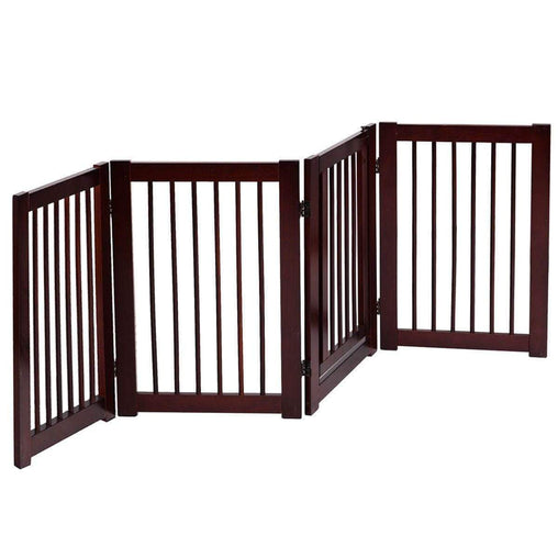 "DealsDot.Com Animals & Pet Supplies 30"" Configurable Folding 4 Panel Wood Fence"