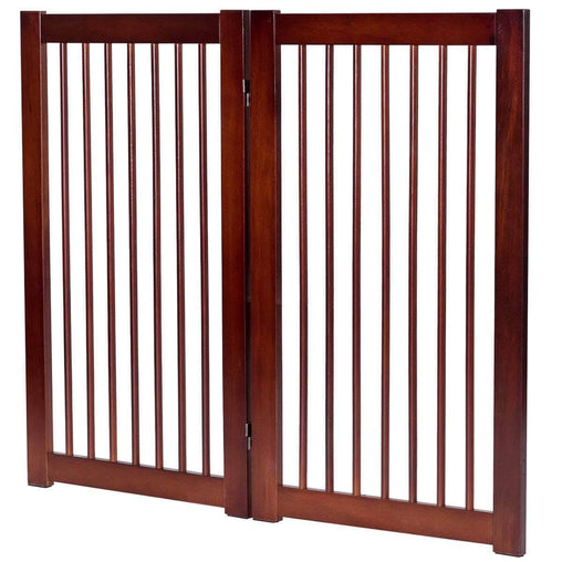 "DealsDot.Com Animals & Pet Supplies 36"" Configurable Folding Wood Pet Dog Safety Fence with Gate"