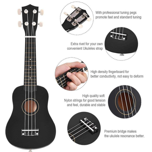 "DealsDot.Com Arts & Entertainment 21"" 4-String Acoustic Ukulele Guitar"