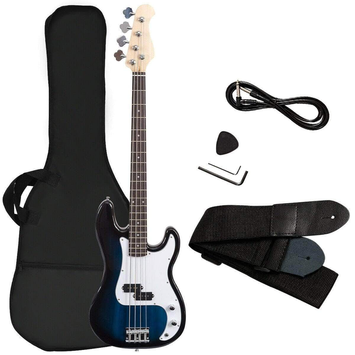 full size 4 string electric bass guitar w strap bag dealsdot com. Black Bedroom Furniture Sets. Home Design Ideas