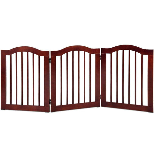 DealsDot.Com Baby & Toddler 3 Panels Folding Freestanding Wood Pet Dog Safety Gate
