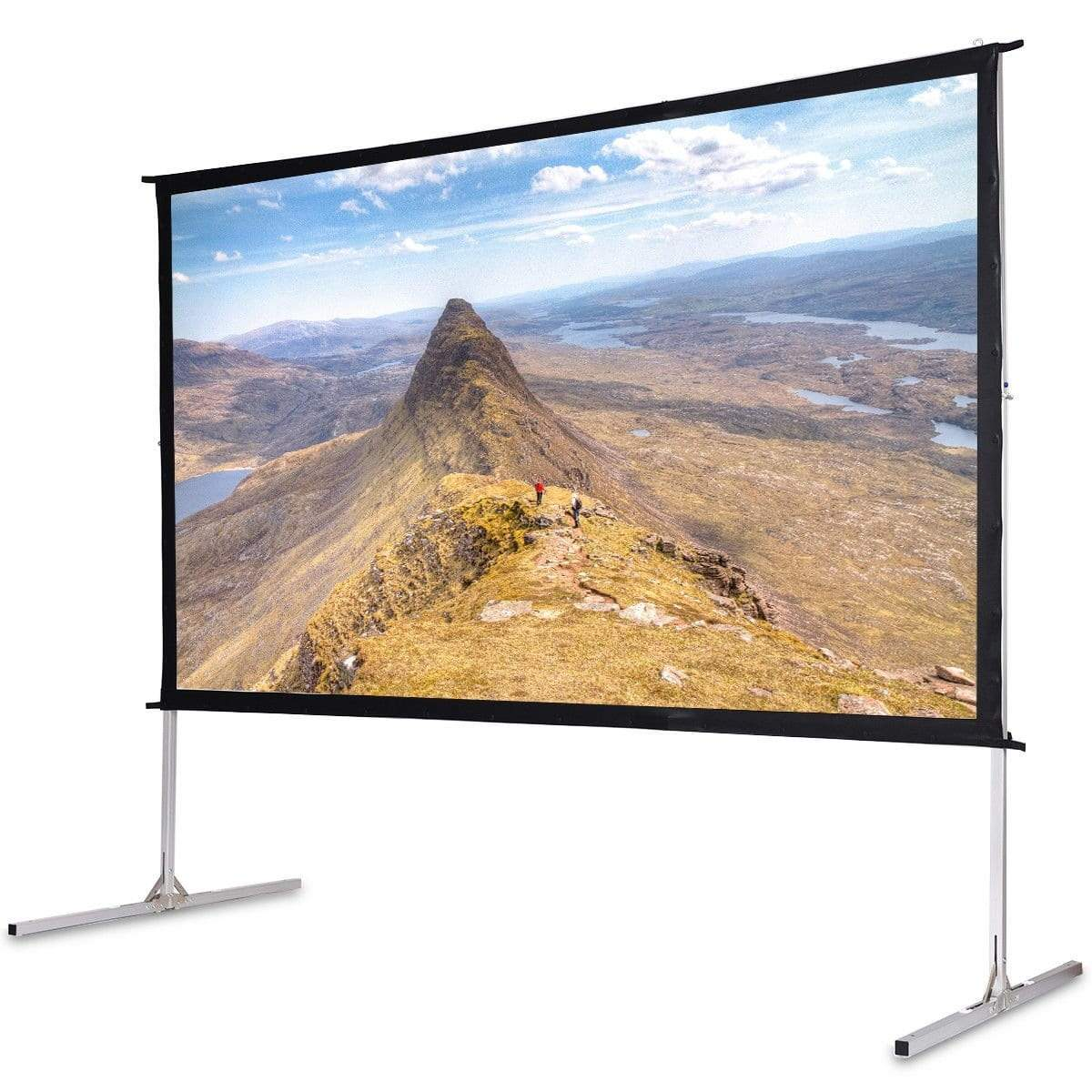 120 Quot 16 9 Home Front Portable Foldaway Projector Screen