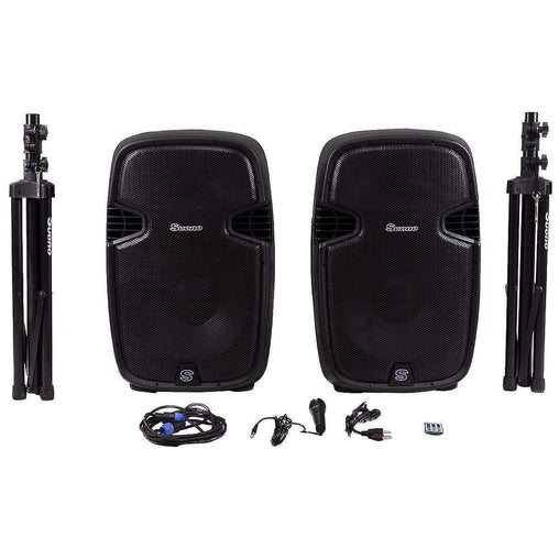 "DealsDot.Com Electronics 2000 W Dual 12"" 2-Way Powered Speakers with Bluetooth"