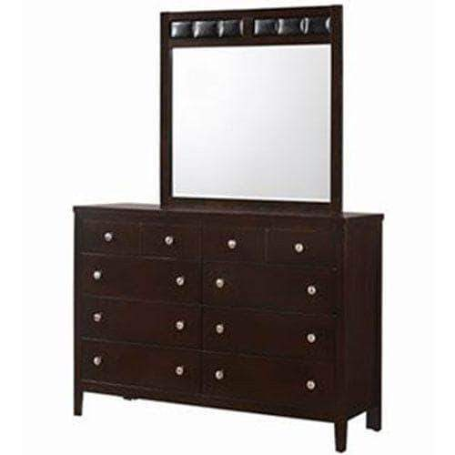 DealsDot.Com Furniture 10 Drawers Luxury Dresser Mirror Storage set