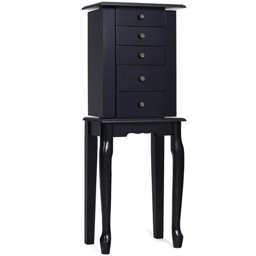 DealsDot.Com Furniture 2 Colors Armoire Storage Standing Jewelry Cabinet with Mirror