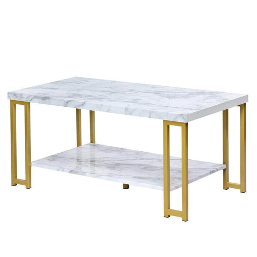 DealsDot.Com Furniture 2-Tier Modern Coffee Table Rectangular