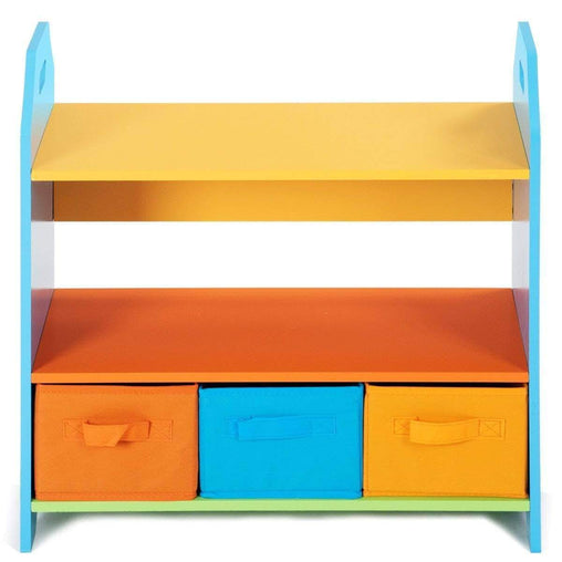 DealsDot.Com Furniture 2 Tiers Crayon Themed Bookshelf With 3 Storage Bins