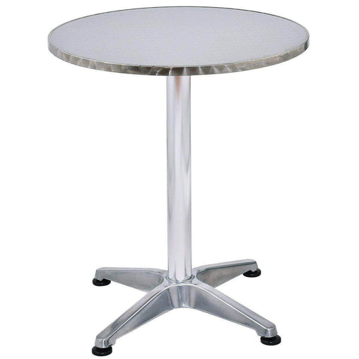 "DealsDot.Com Furniture 23 1-2"" Stainless Steel Aluminium Round Cafe Bistro Table"
