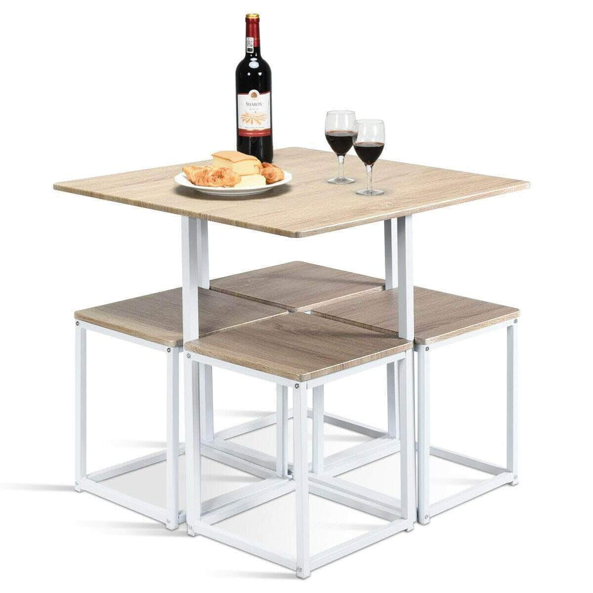 Best Deals On Dining Table And Chairs: 5 Pcs Dining Table And Chairs Set Compact Space Bar