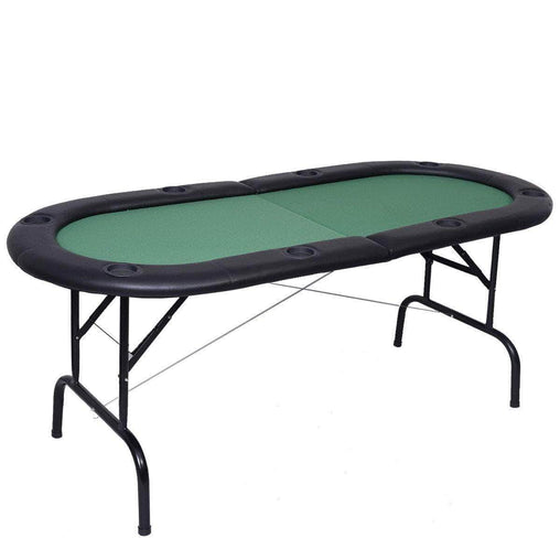 DealsDot.Com Furniture 8 Players Texas Holdem Foldable Poker Table