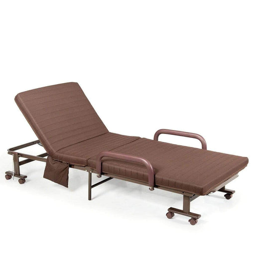 DealsDot.Com Furniture Adjustable Guest Single Bed Lounge Portable Wheels