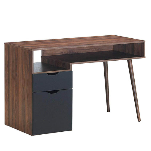 DealsDot.Com Furniture Computer Desk PC Writing Table Drawer & Cabinet with Wood Legs