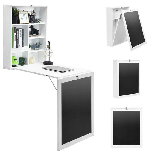 DealsDot.Com Furniture Convertible Wall Mounted Table with A Chalkboard