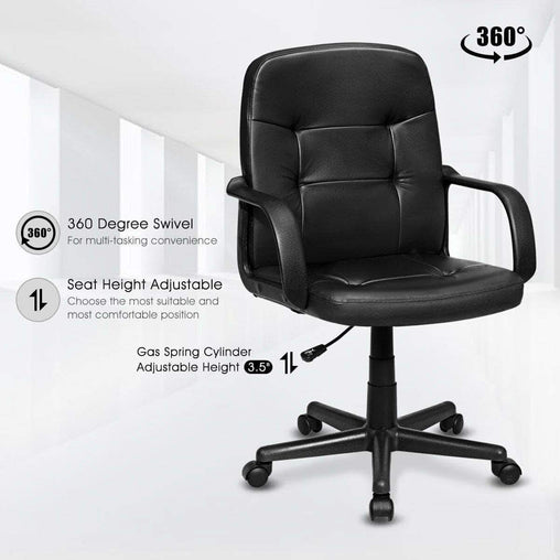 DealsDot.Com Furniture Ergonomic Mid-back Executive Office Chair Swivel Computer Chair